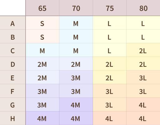 ルルクシェル サイズ表